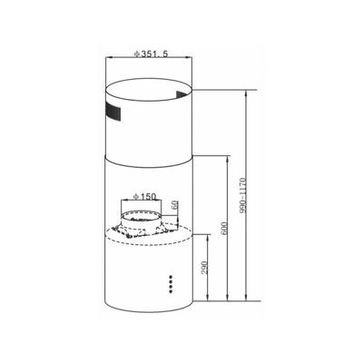 Схема встраивания Maunfeld Lee Light 35 черный